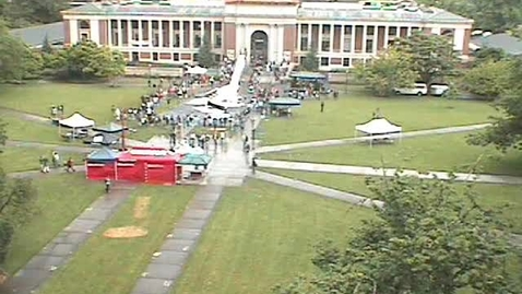 """Thumbnail for entry """"Snow in the Quad"""" setup footage, May 25, 2006"""