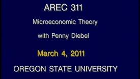 AREC 311 Winter 2011 - Lecture 29