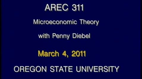 Thumbnail for entry AREC 311 Winter 2011 - Lecture 29