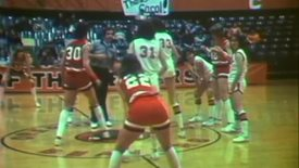 Thumbnail for entry Oregon State University women's basketball, wrestling and gymnastics footage, February 1981