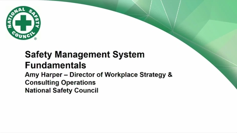 Thumbnail for entry Corporate Partners Seminars (November 30, 2018): Amy Harper - Safety Management System Fundamentals