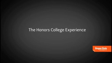 Thumbnail for entry The Honors College Experience