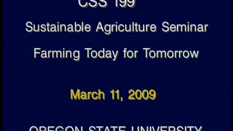 Thumbnail for entry CSS 199 Winter 2009 - Lecture 10