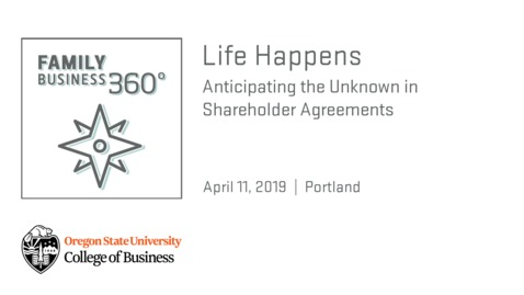 Thumbnail for entry Life Happens: Anticipating the Unknown in Shareholder Agreements