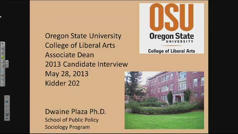 Thumbnail for entry Dwaine Plaza - College of Liberal Arts Associate Dean Candidate