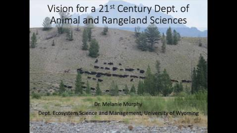 Thumbnail for entry 2019-10-28 Animal and Ranceland Sciences Dept. Head - Dr. Melanie Murphy