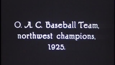 Thumbnail for entry Northwest Conference Baseball Champions, 1925 (FV P 048:10)