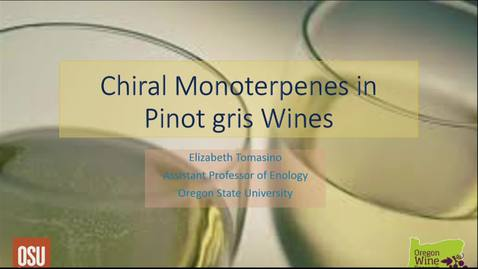 Thumbnail for entry Chiral Monoterpenes in Pinot gris Wines