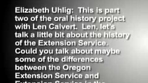 Thumbnail for entry  Len Calvert - part 2