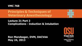 Thumbnail for entry 23 02 Complications - Induction & Intubation