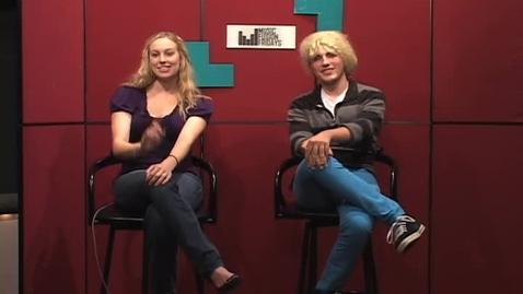 "Thumbnail for entry ""Blonde Bombshells on the Hour"" [KBVR-TV Promo], circa 2011"