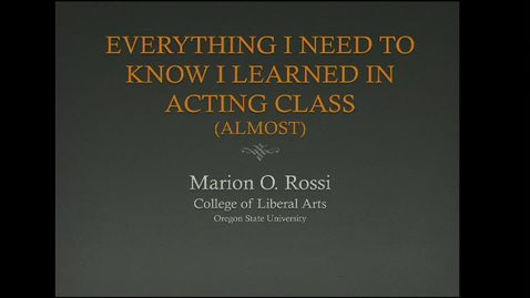 Thumbnail for entry Marion Rossi - College of Liberal Arts Assistant Dean Candidate