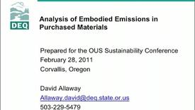 "Thumbnail for entry ""Analysis of Embodied Emissions in Purchased Materials"" - Da"