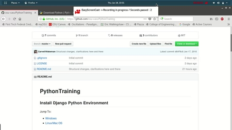 Thumbnail for entry CASS SDS 2018:  Intro to Building Web Applications using Python PART 1 Python_Installation-Windows