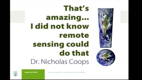 """Thumbnail for entry """"I Didn't Know Remote Sensing Could Do That!"""""""