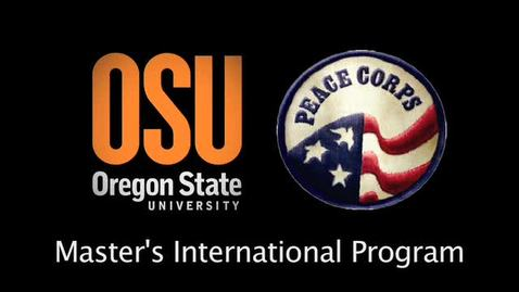 OSU Peace Corps Master's International