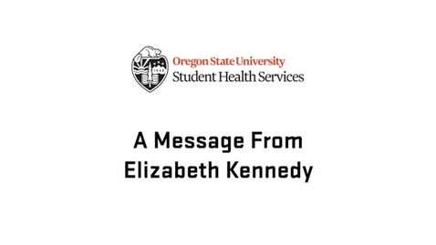 Thumbnail for entry A Message From Elizabeth Kennedy