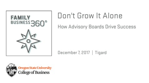 Thumbnail for entry Don't Grow It Alone - How Advisory Boards Drive Success