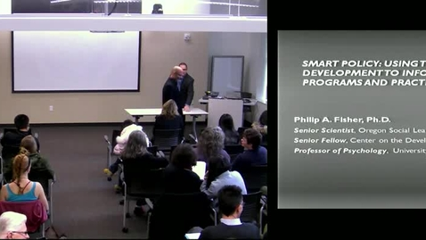 Thumbnail for entry Smart Policy | Campbell Lecture Series, Fall 2011