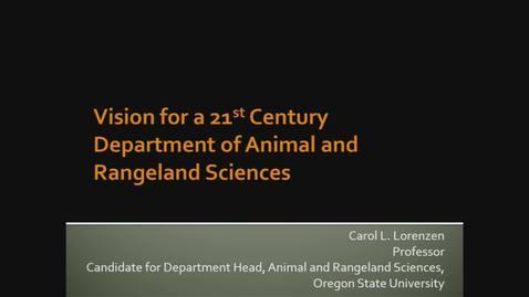 Thumbnail for entry 2019-12-17 ARS Dept. Head Search - Carol Lorenzen