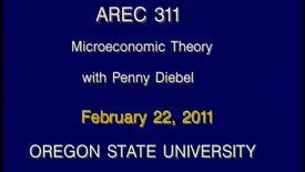 AREC 311 Winter 2011 - Lecture 25