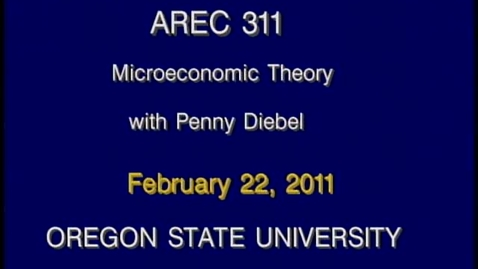 Thumbnail for entry AREC 311 Winter 2011 - Lecture 25