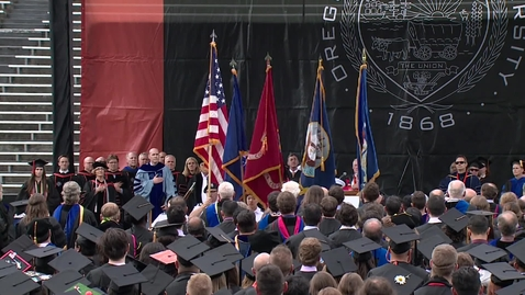 Thumbnail for entry 148th Annual Oregon State University Commencement (2017) - National Anthem