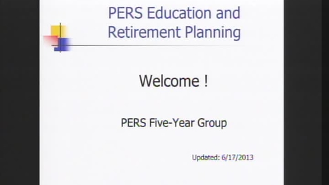 Thumbnail for entry PERS 5 Years to Retirement