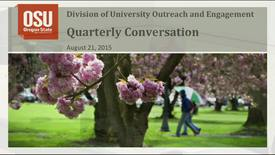 Outreach and Engagement Quarterly Conversation August 21, 2015