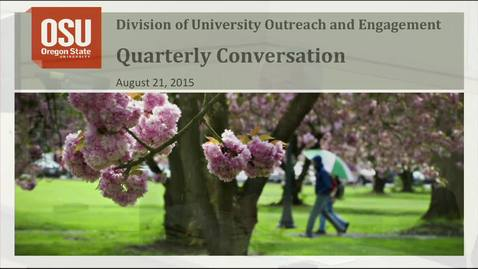 Thumbnail for entry Outreach and Engagement Quarterly Conversation August 21, 2015