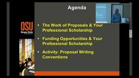 Thumbnail for entry Writing for grants and fellowships