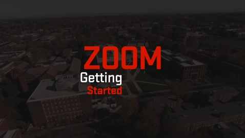 Thumbnail for entry Zoom   Getting Started