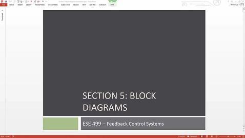 ESE 499 Class Prep 5 - 04/27/16