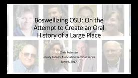 Thumbnail for entry LFA Seminar Series: Boswellizing OSU - 6/9/17