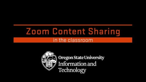 Thumbnail for entry Zoom Content Sharing in the Classroom