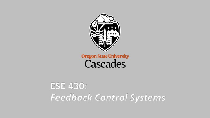 Thumbnail for channel ESE 430 - Feedback Control Systems