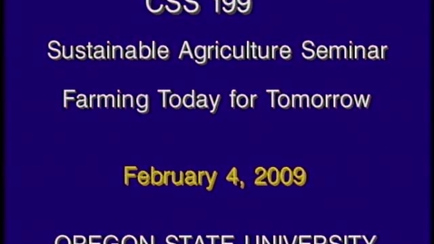 Thumbnail for entry CSS 199 Winter 2009 - Lecture 5