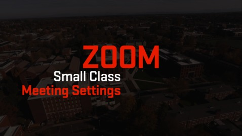 Thumbnail for entry Zoom | Small Class Meeting Settings