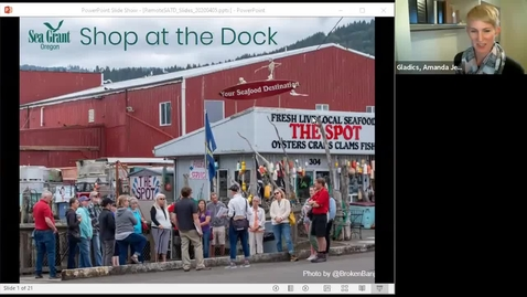 Thumbnail for entry Accessing Seafood during COVID-19: A Shop at the Dock Garibaldi Update, 4/5/2020 - Video 1