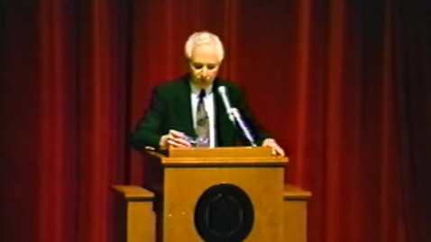 Thumbnail for entry President Byrne Reports to the Faculty Senate, 1993.