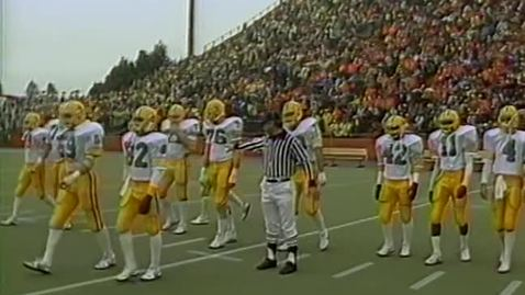 Thumbnail for entry University of Oregon vs. Oregon State University football, November 17, 1984