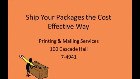 Thumbnail for entry Ship Your Packages the Cost Effective Way