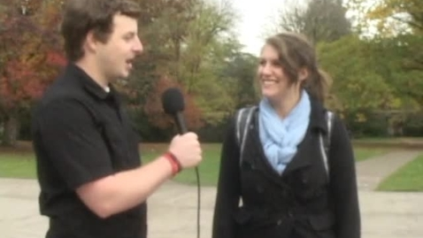 """Thumbnail for entry """"Questions on the Quad"""" [KBVR-TV Show], November 14, 2011"""
