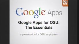 Google Apps for OSU Part 1: The Essentials