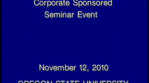 Thumbnail for entry Corporate Partners Seminar Event