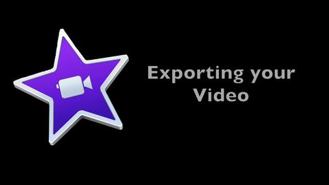 iMovie 10: How and Where  to Export.mov