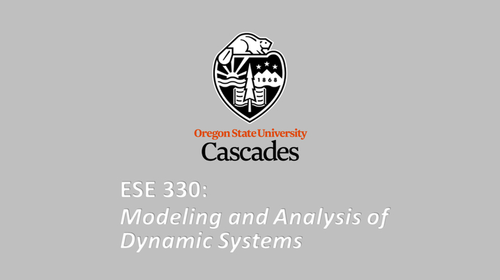 Thumbnail for channel ESE 330 - Modeling and Analysis of Dynamic Systems
