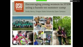 Thumbnail for entry Exploring Engagement Symposium: Encouraging young women in STEM using a hands-on summer camp