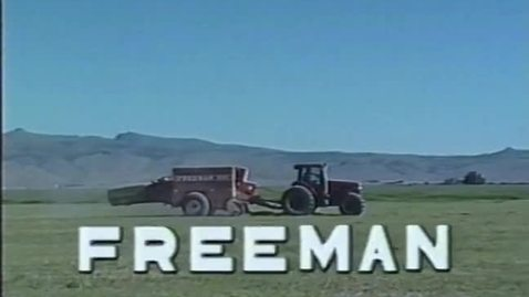 Thumbnail for entry Freeman 330, 370 and 6000 agricultural equipment demos, circa 1990s