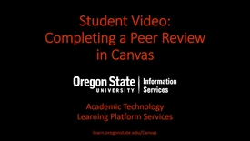 Thumbnail for entry Student Video: Complete a Peer Review